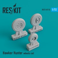 Hawker Hunter wheels set 1/72
