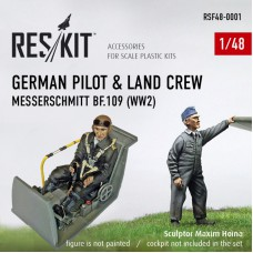 German pilot & land crew Messerschmitt Bf.109 (WW2)  1/48