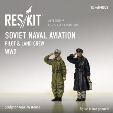 Soviet Naval Aviation pilot & land crew (WW2) 1/48