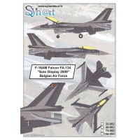 F-16AM Falcon solo display 2009 Decals 1/48