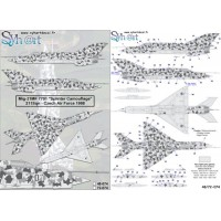 Mig-21MF 7701 Splinter Camouflage 211 sqn Decals 1/72
