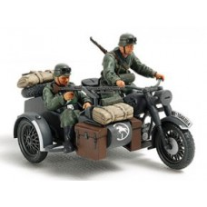 German motorcycle and sidecar 1/48