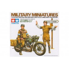 British BSA M20 motorcycle military police set 1/35