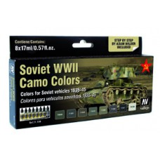 Soviet AFV WWII Camo colors Vallejo