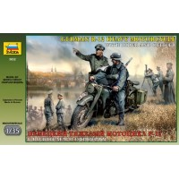 German R-12 Heavy Motorcycle with rider and officer 1/35