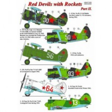Red Devils with rockets Decals 1/48