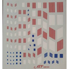 American Flags Decals 1/144