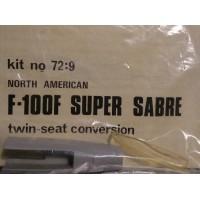 F-100F Super Sabre twin-seat conversion 1/72