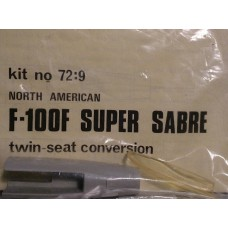 F-100F Super Sabre twin-seat conversion 1/72