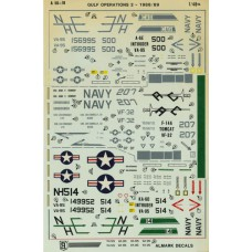 Gulf operations 2 - 1988-89 Decals 1/48