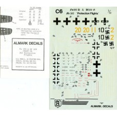 Fw-190D & Bf-109G & Me-262 Protection Flights Decals 1/72