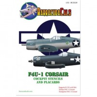 F4U-1 Corsair cockpit stencils & plackards Decals 1/32