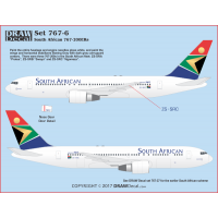 767-200 South African Decals 1/100