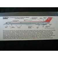 Northwest MD80's and other DC9's Decals 1/100