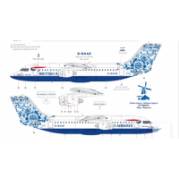 British airways - Delftblue Daybreak Decals 1/144