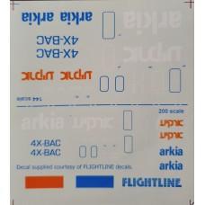 Arkia 737-200 Decals 1/144