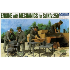 Engine with Mechanics for Sd. Kfz. 250 1/35