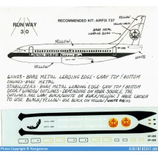 Boeing 737 Royal Brunei Decals 1/144