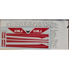 Boeing 727 TWA Decals 1/144