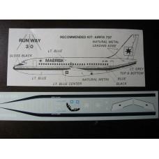 Boeing 737 Maersk Decals 1/144