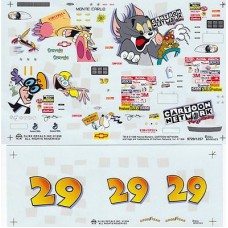 #29 Cartoon Network Monte Carlo driven by Jeff Green in the 1997 season Decals 1/24