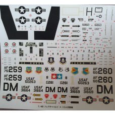 Fairchild Republic A-10A Decals 1/48