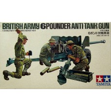 British army 6 pounder anti-tank gun 1/35