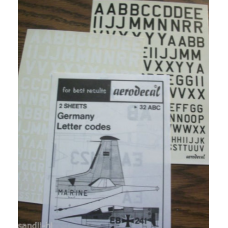 German letter codes Decals 1/72