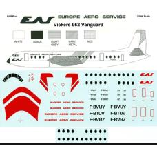 Vickers 952 Vanguard Europe Aero Service Decals 1/144