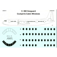 Vickers Vanguard Windows Decals 1/144