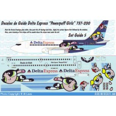 737-200 Delta express powerpuff girls Decals 1/100