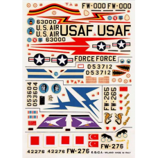 North American F-100D Super Sabres Decals 1/72