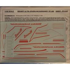 Braniff Ultra Sparkling Burgundy 727-200 Decals 1/100