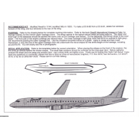 Braniff Ultra Light Blue DC-8-62 Decals 1/100