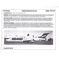 Grand Airways DC-9-30 Decals 1/100