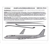 Braniff Ultra Perseus green DC-8-62 Decals 1/100
