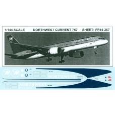 Northwest Current 757 Decals 1/144