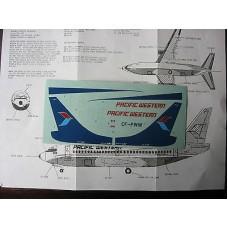 Boeing 738 Pacific Western Decals 1/144