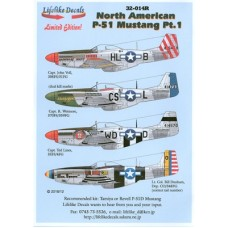 North American P-51 Mustang, Part 1 Decals 1/32