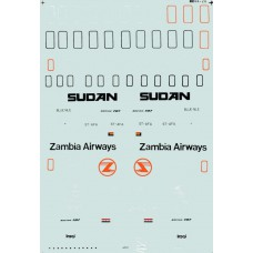 Boeing 707 Decals 1/144