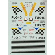 USAF korean war F-86F Sabres Decals 1/48