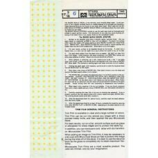 gele sterren Decals 1/72