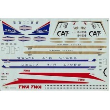 Convair 880 Decals 1/144