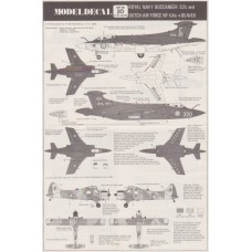 Royal Navy Buccaneer S2's and Dutch Air Force NF-5A's + Beaver Decals 1/72