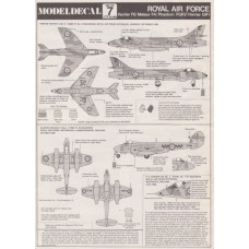 RAF Hunter F6 / Meteor F4 / Phantom FGR2 / Harrier GR1 Decals 1/72