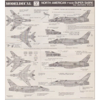 North American F-100D Sabre Decals 1/72