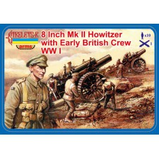 8 Inch Mk II Howitzer with Early British Crew WWI 1/72