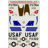 F-86D Sabres 35th FIS & 63rd FIS Decals 1/48