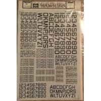 US ID Numbers & Letters 60° Angle Decals 1/72