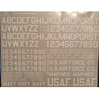 U.S.A.F. Lettering Decals 1/48